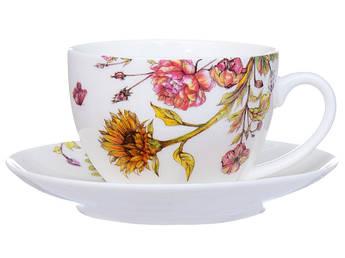 Чашка с блюдцем Подсолнух 2пр