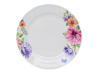 Большая тарелка с цветами 25см