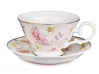 Чашка с блюдцем Лаура Lefard кофейная 135мл 2пр