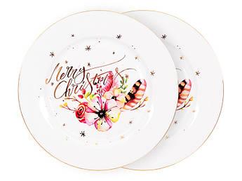 Набор новогодних тарелок 19см 2шт