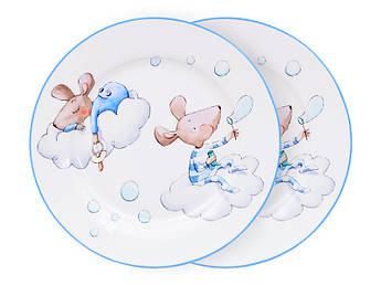 Набор тарелок мышонок в облаках 19см 2шт