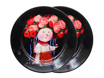 Набор тарелок с рисунком Гапчинская Gapchinska Украинка 19см 2шт