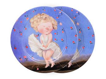 Посуда Гапчинская Gapchinska тарелки с Мэрилин Монро 19см 2шт