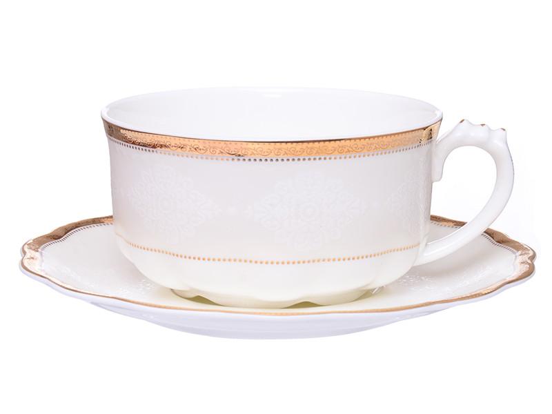Большая чашка с блюдцем Летиция 400мл 2пр