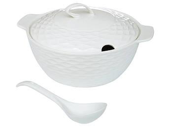 Белая керамическая супница Натали 33см