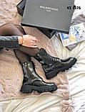 Balenciaga (чорні/лакированны) cas, фото 4
