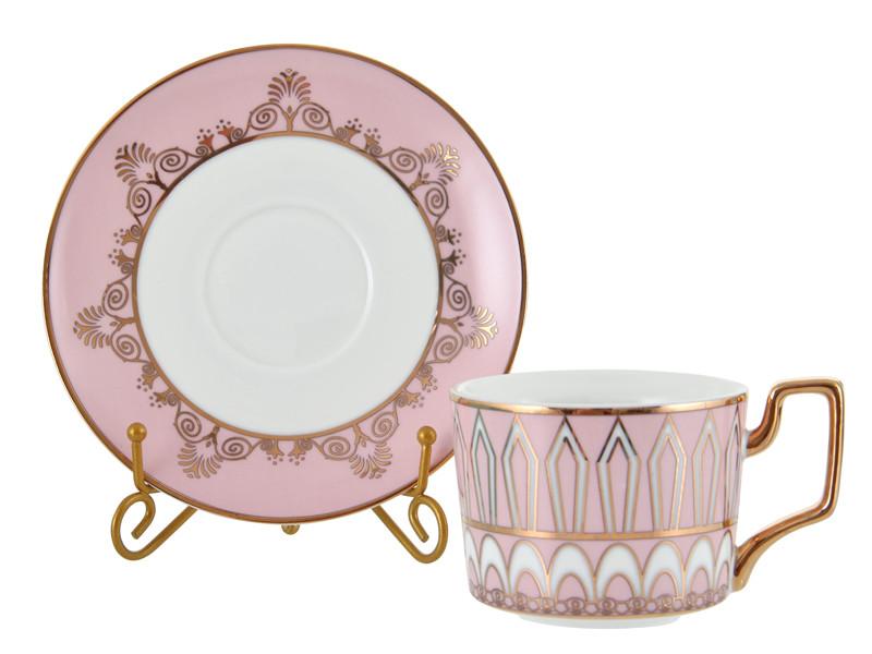 Чайная пара розовая 220мл 2пр