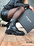 Balenciaga (чорні/лакированны) cas, фото 8