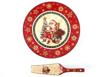 Новогодняя посуда для торта Lefard 26см