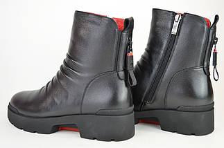 Ботинки зимние цигейка Geronea 9911100 Черные кожа, фото 3