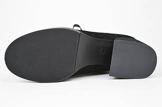 Ботинки на каблуке Geronea 5077733 Черные замша, фото 2