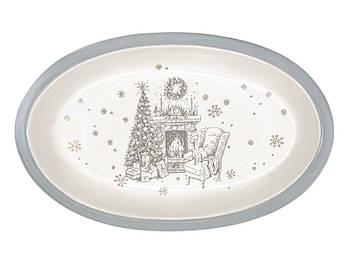 Блюдо керамическое новогоднее для запекания 28см