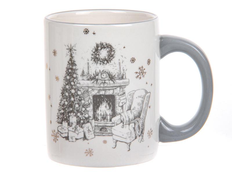 Новорічна посуд для сервірування Чашка різдвяна 300мл