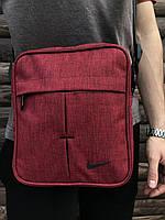 Сумка через плечо найк Nike спортивная мужская красная реплика, фото 1
