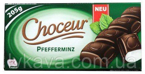 Черный шоколад  Choceur Pfeffeminz , 205 гр