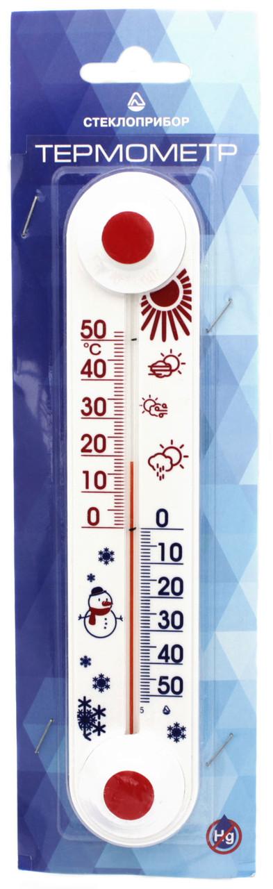 "Термометр оконный ТБ-3-М1 исп. 11 «Стеклоприбор» ""Снеговик"""