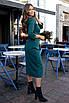 Строгое Платье миди зеленое, фото 3