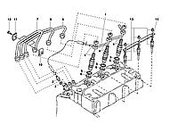 Трубка обратки форсунок Kubota D1105 | 16261-42502