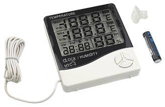 Цифровой термометр-гигрометр HTC-2 с выносным датчиком температуры