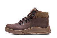 Мужские зимние кожаные ботинки Yurgen brown Style р. 40, фото 1