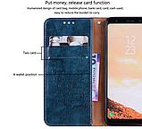 Чехол - книжка для Xiaomi Redmi 9A с силиконовым бампером и отделением для карточек Цвет Синий, фото 5
