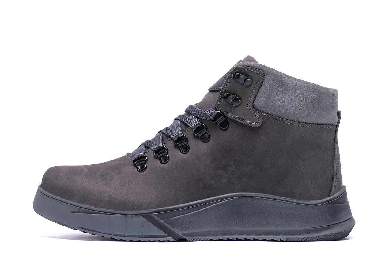 Чоловічі зимові шкіряні черевики Yurgen grey Style р. 40 45