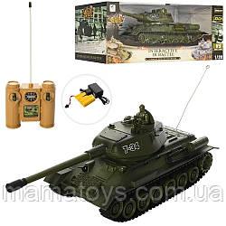 Іграшковий Танк на радіокеруванні 99809 Розмір 36 см Т34 Акумулятор, Звук, Світло