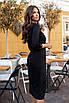 Черное строгое Платье миди, фото 3
