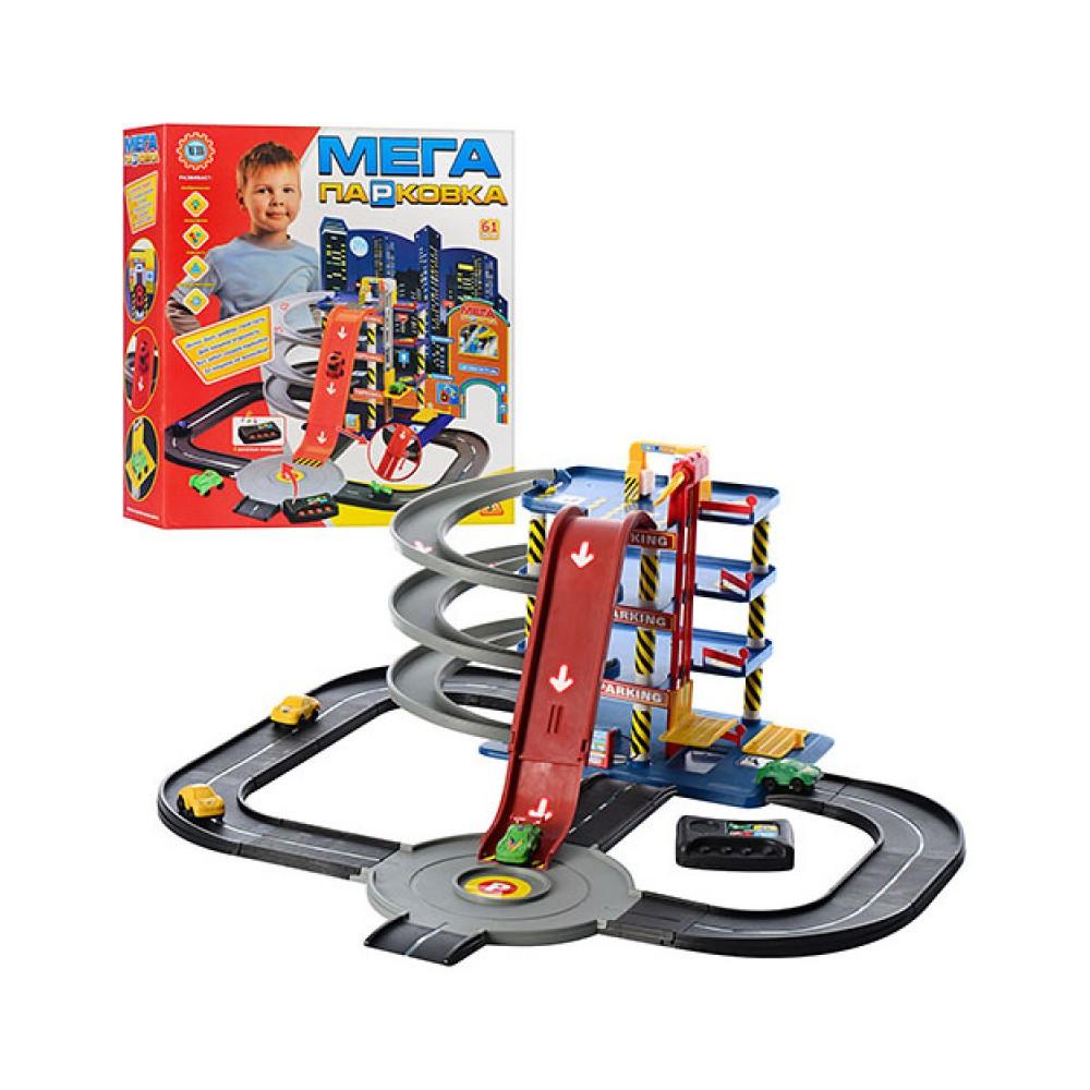 """Гараж паркинг для детских машинок """"Мега парковка"""" Метр+ 922-7 Игровой набор парковка 4 машинки"""