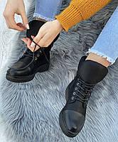Ботинки женские Евро-Зима 8 пар в ящике черного цвета 36-40, фото 2