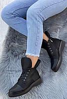 Ботинки женские Евро-Зима 8 пар в ящике черного цвета 36-40, фото 3