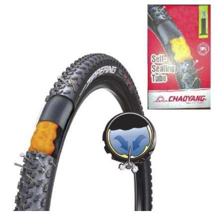 Камера (велосипедний) 29*1,95/2,125 A/V=48mm Butyl Self sealing АНТИПРОКОЛ ГЕЛЬ США Chao Yang - Top Brand