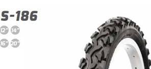 """Покрышка (велосипедная) 12 1/2x1,75x2 1/4 (47-203) 12"""" S-203 слик с этикеткой Delitire"""