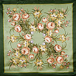 Жаворонок 770-10, павлопосадский платок (атлас) шелковый с подрубкой., фото 2