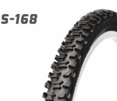 """Покрышка (велосипедная) 16x2,125 16"""" S-168  этикеткой черная Delitire"""