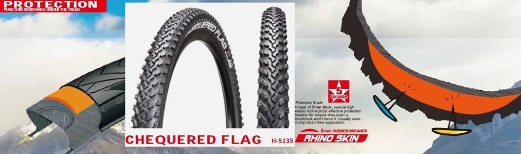 "Покрышка (велосипедная) 24*1,95 24"" Н-5135 АНТИПРОКОЛ  5 Level  5mm Rhino skin's шиповка Chao Yang - Top Brand"