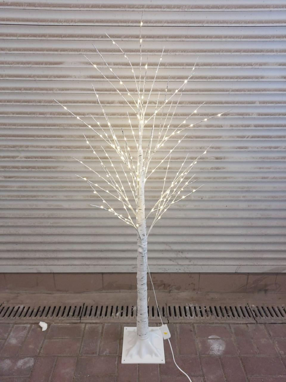 """Новорічне декоративне дерево-гірлянда """"Береза"""" 160 см 96 Led IP 50"""