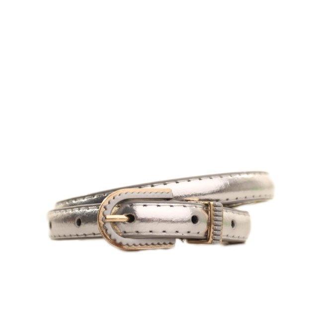 Ремень Casa Familia серебристый L1510W51 95-100 см