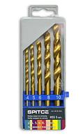 Набір свердел по металу (титан. покр.), 5 шт. (4-10мм, уп. пластик)