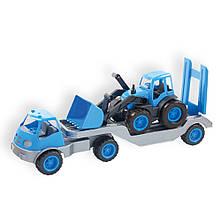 Игровой набор Погрузчик с прицепом и трактором  Mochtoys  10171