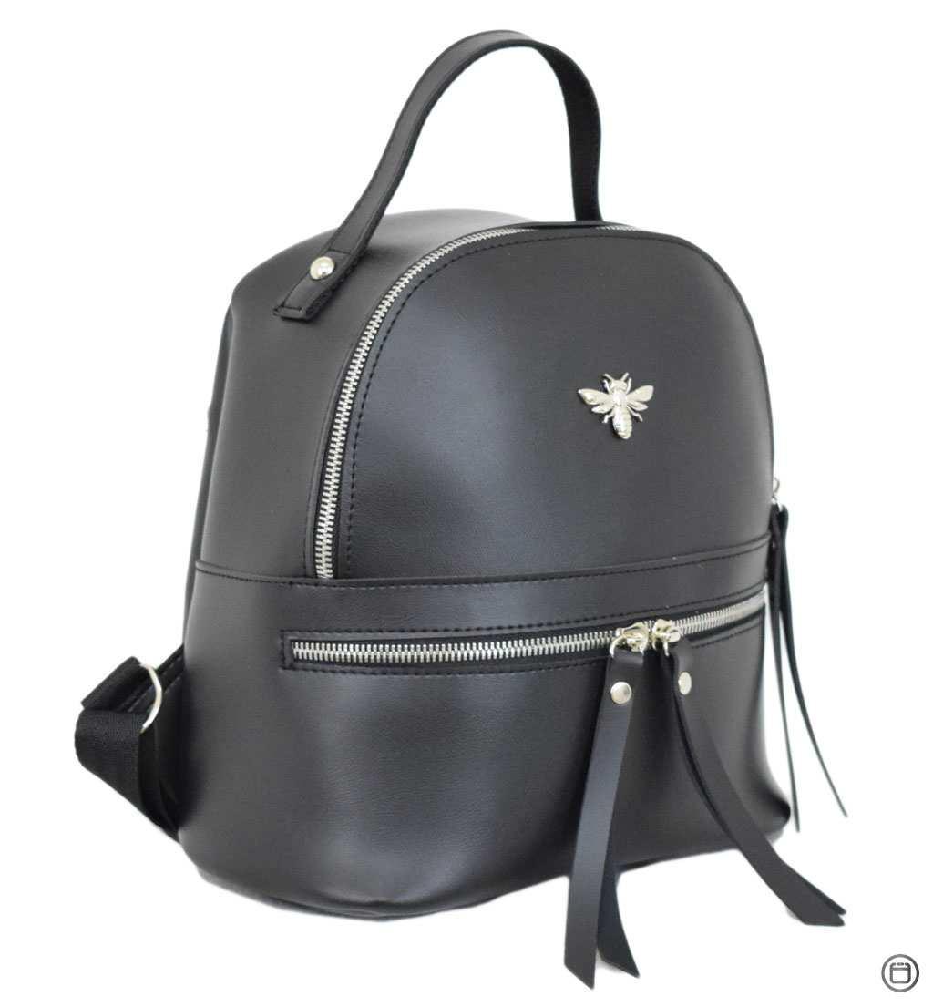 Женский рюкзак кожзам Case 653 черный г