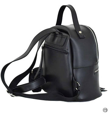 Женский рюкзак кожзам Case 653 черный г, фото 2