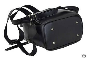 Женский рюкзак кожзам Case 653 черный г, фото 3