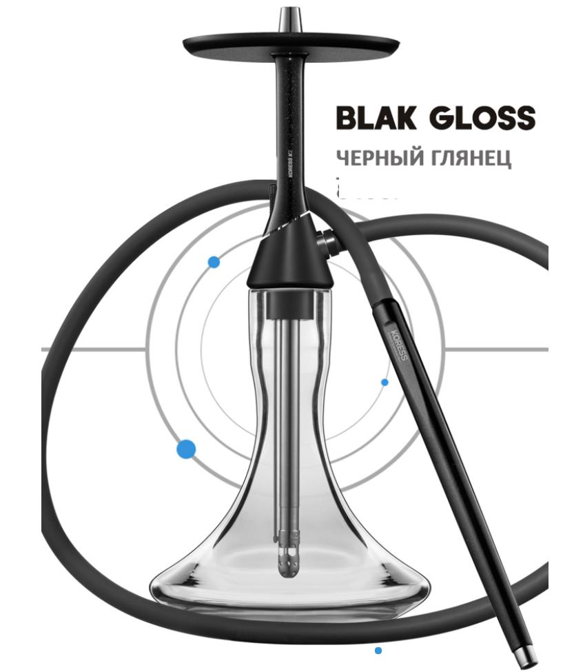 Кальян Koress Hookah - K2 Black Gloss, без колбы