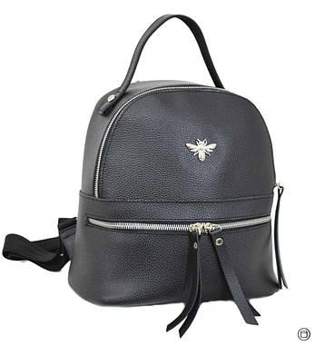 Женский рюкзак кожзам Case 653 черный ф, фото 2