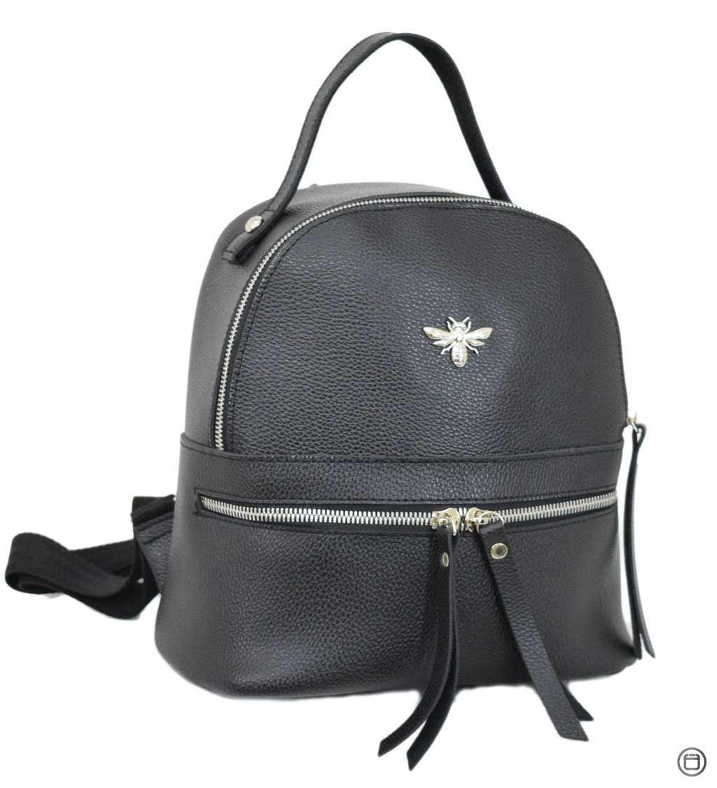 Женский рюкзак кожзам Case 653 черный ф