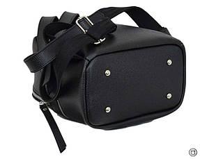 Женский рюкзак кожзам Case 653 черный ф, фото 3