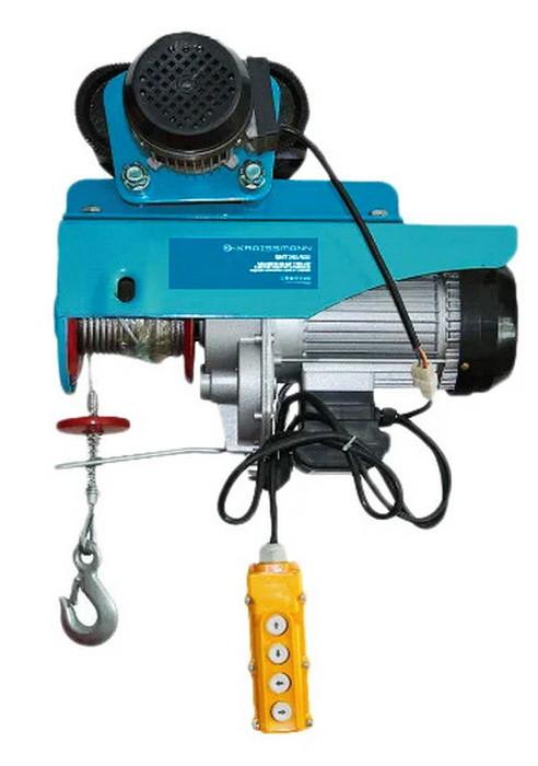 Тельфер электрический передвижной с кареткой KRAISSMANN SHT 250/500 грузоподъемностью до 500 килограмм (трос 2