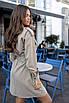 Бежевое платье сафари стиль, фото 3
