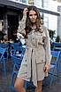 Бежевое платье сафари стиль, фото 2